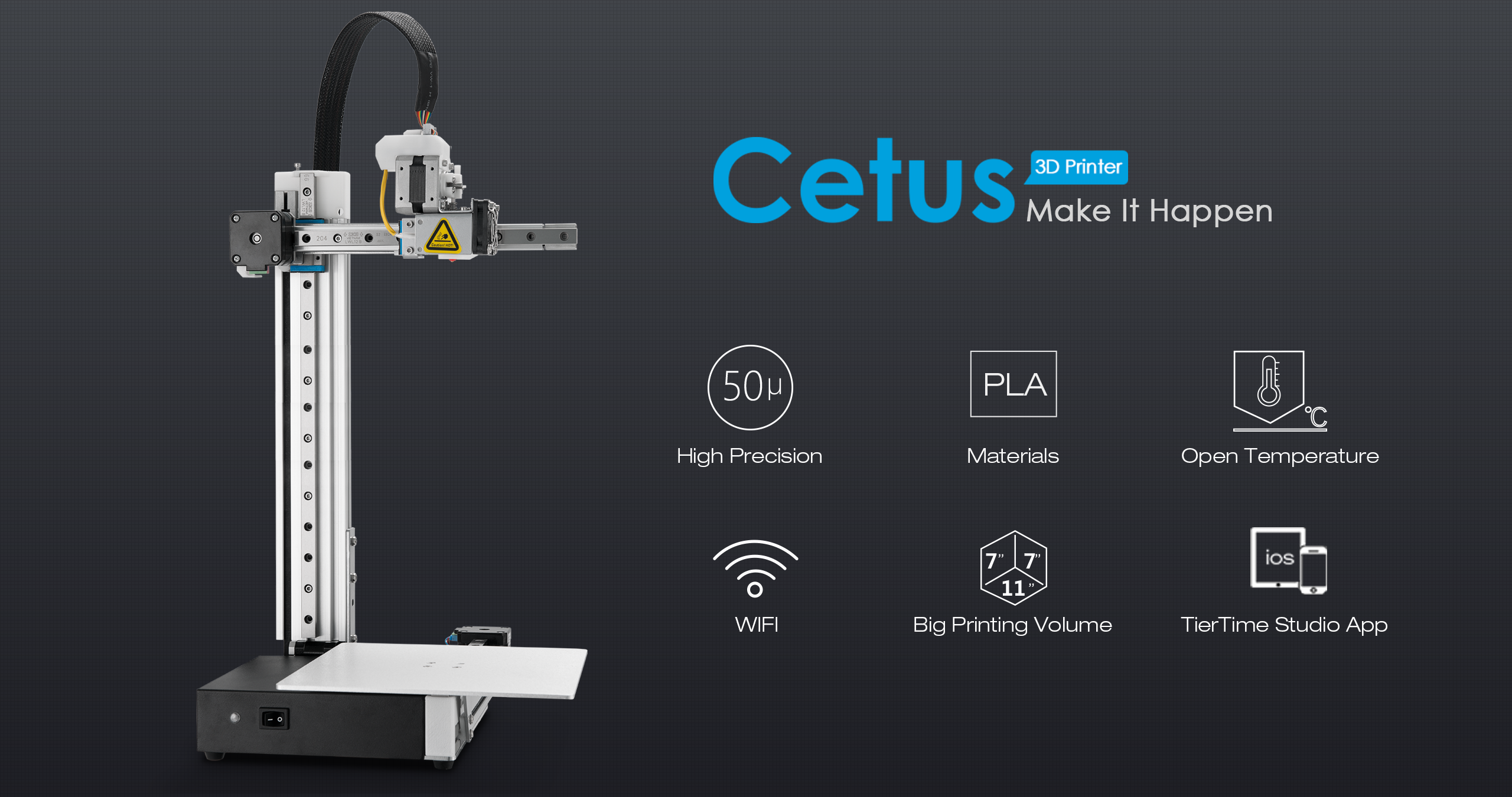 Cetus 3D Printer Extended MKII, Russia Stock - Tiertime 3D Printer Store